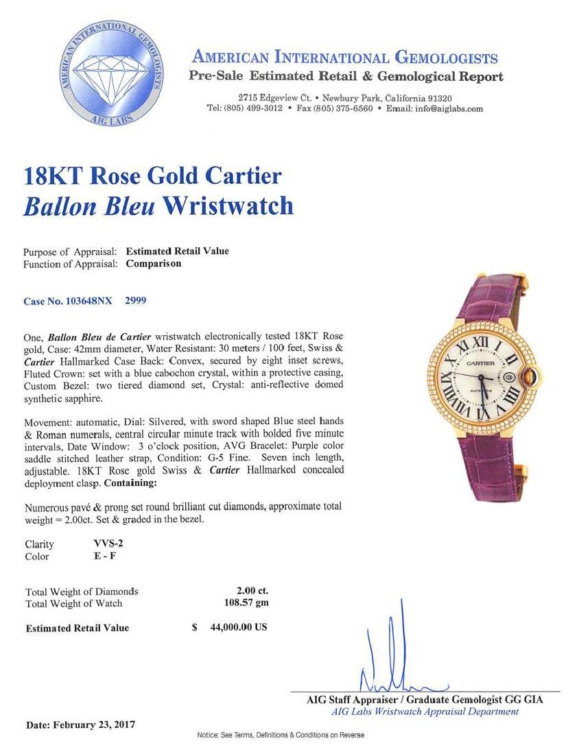Cartier 18KT Rose Gold Ballon Bleu Watch - 8