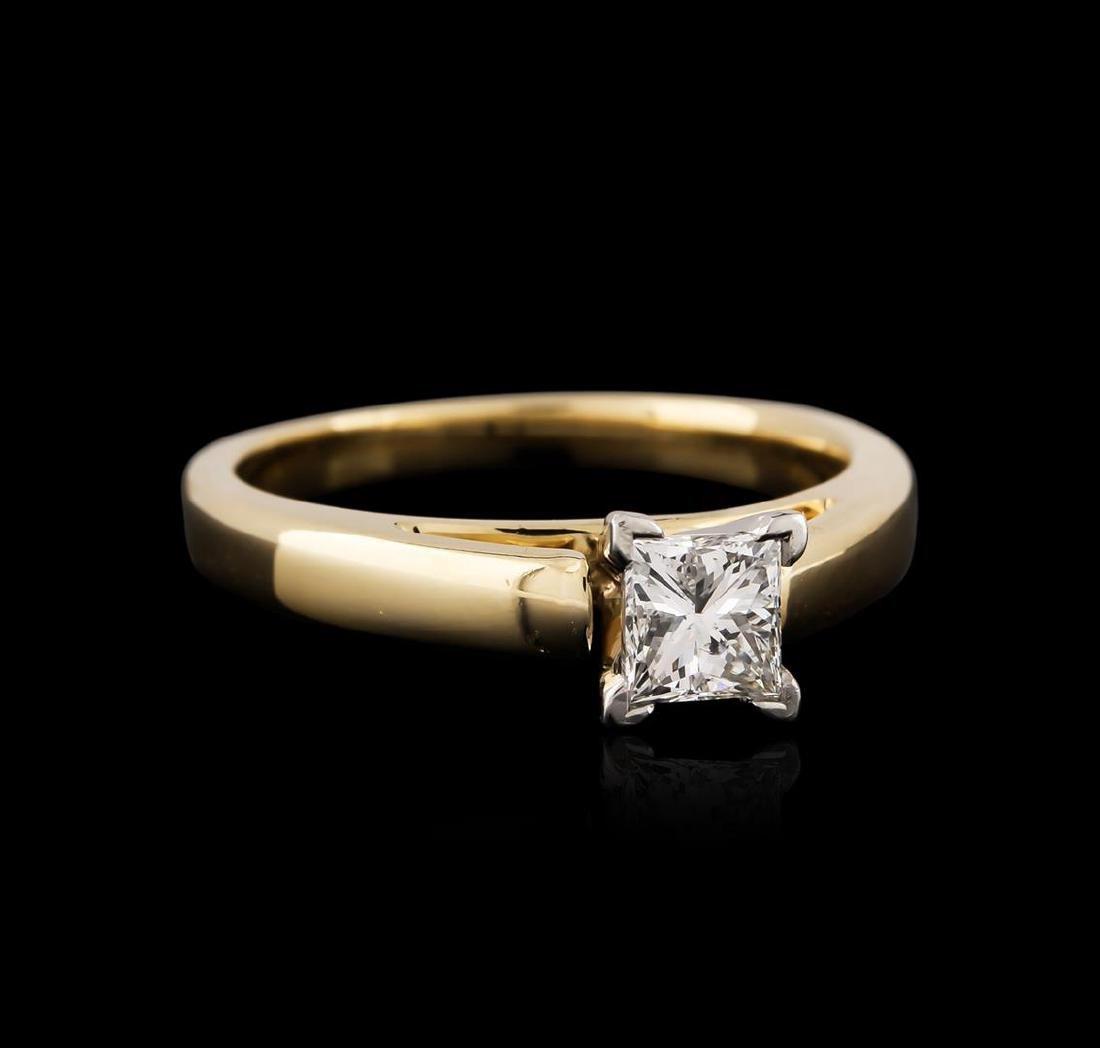 14KT Yellow Gold and Platinum 0.57 ctw Diamond