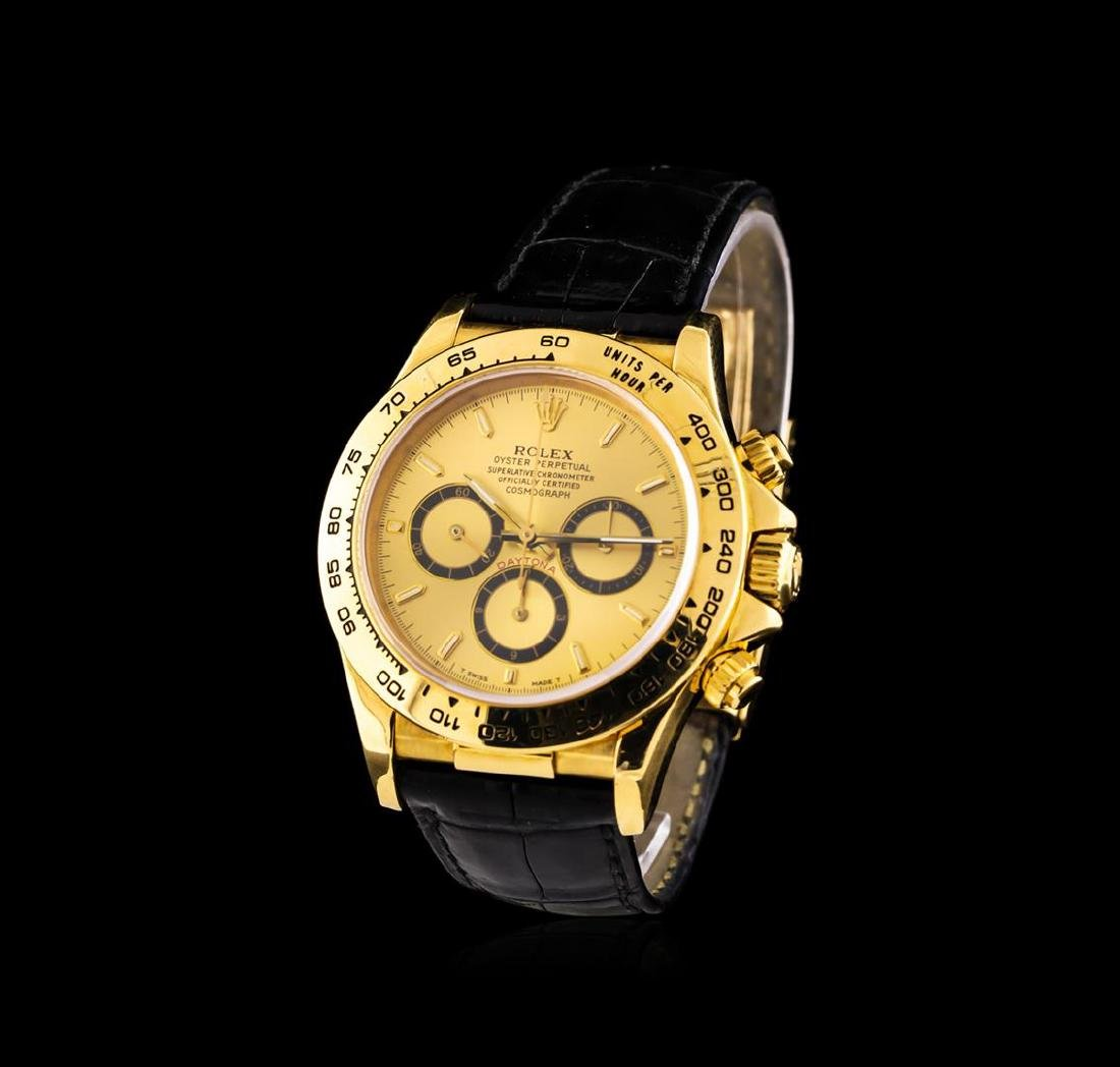 Rolex 18KT Yellow Gold Daytona Cosmograph Watch - 2