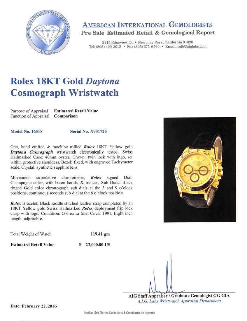Rolex 18KT Yellow Gold Daytona Cosmograph Watch - 5