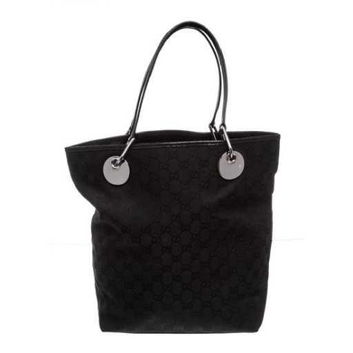 f582947bc01e Gucci Black Monogram Canvas Leather Eclipse Tote Bag