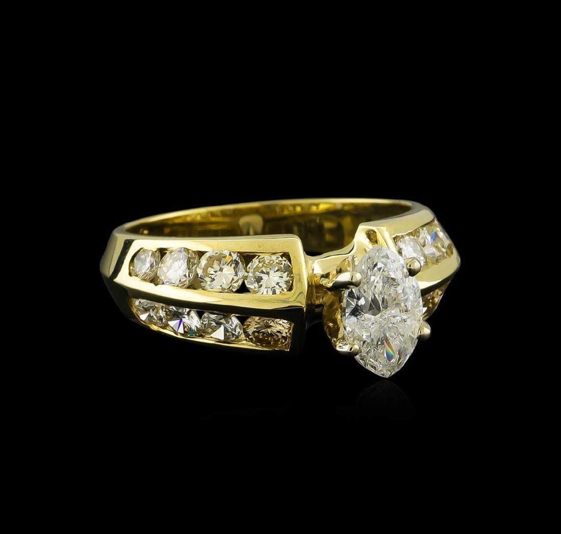 2.35 ctw Diamond Ring - 14KT Yellow Gold