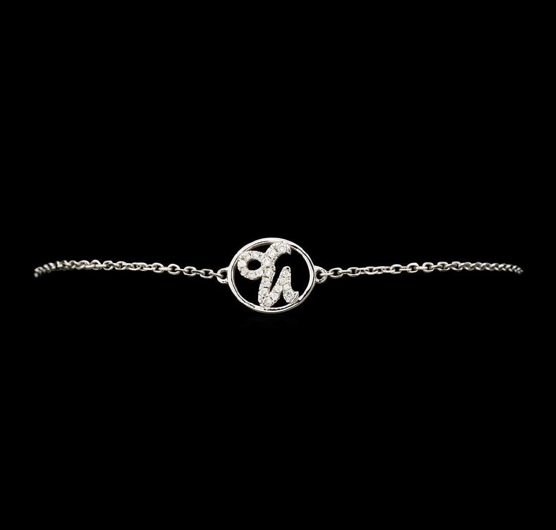 0.30 ctw Diamond Bracelet - 14KT White Gold