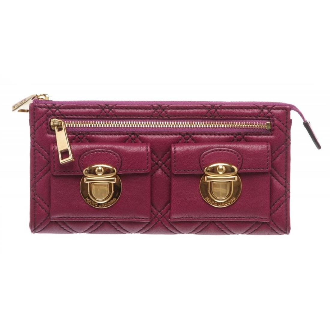 Marc by Marc Jacobs Purple Quilted Leather Long Zipper