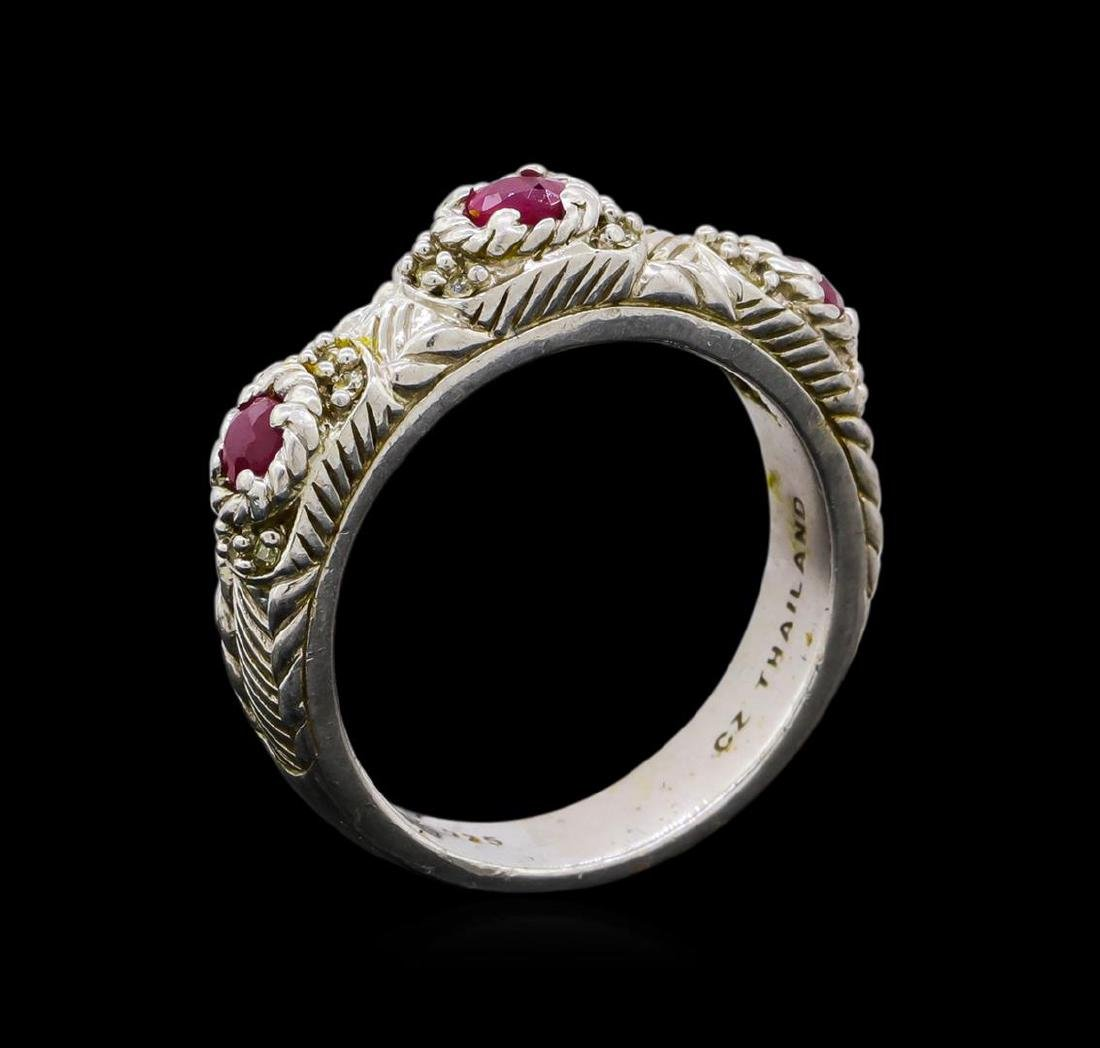 Judith Ripka Cubic Zirconia Ring - Sterling Silver - 3