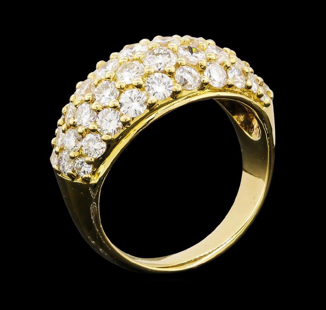 3.10 ctw Diamond Ring - 18KT Yellow Gold - 4