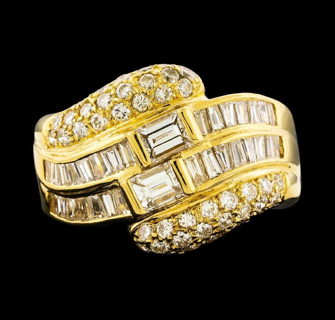 1.79 ctw Diamond Ring - 18KT Yellow Gold - 2