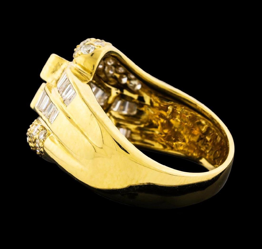 1.79 ctw Diamond Ring - 18KT Yellow Gold - 3