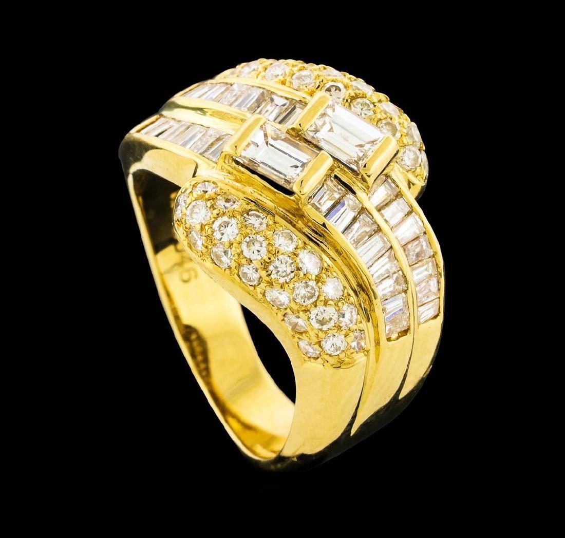 1.79 ctw Diamond Ring - 18KT Yellow Gold - 4