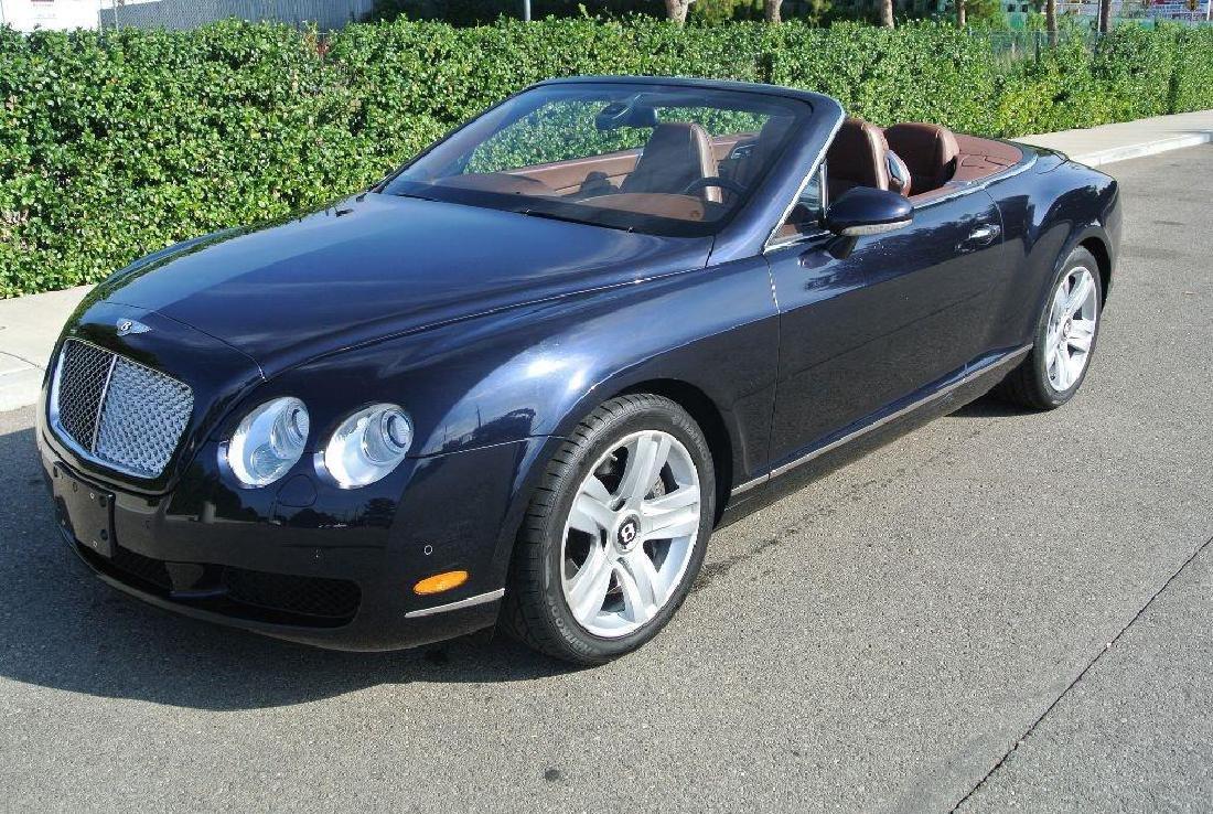 2007 Dark Sapphire Bentley Continental GTC