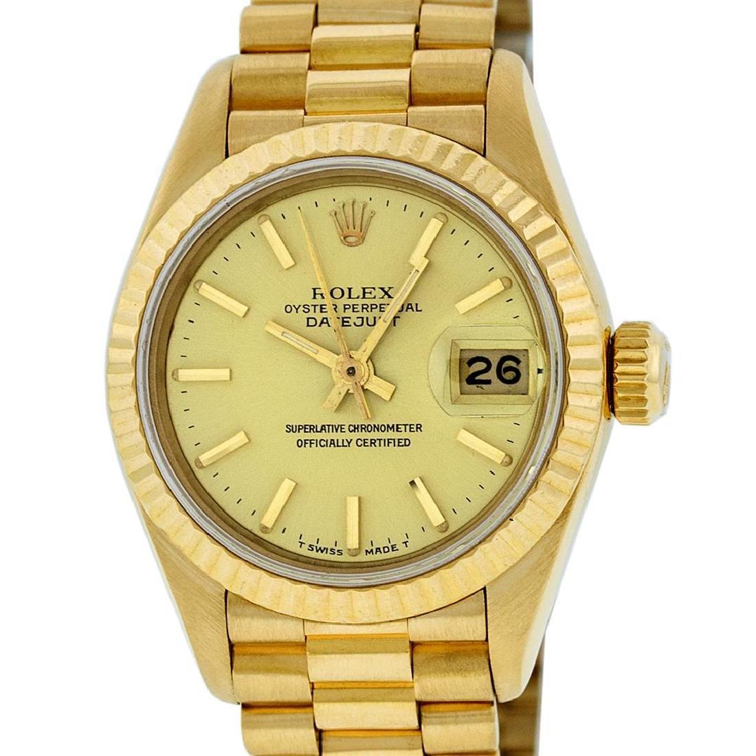 Rolex 18KT Gold President Ladies Watch