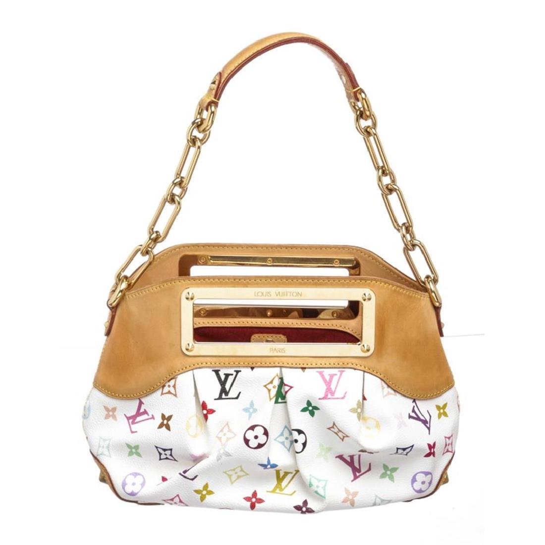 Louis Vuitton White Multicolor Judy MM Satchel Handbag