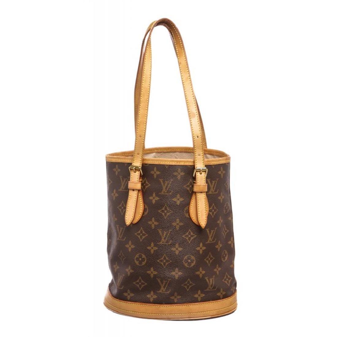 Louis Vuitton Monogram Canvas Leather Petit Bucket PM