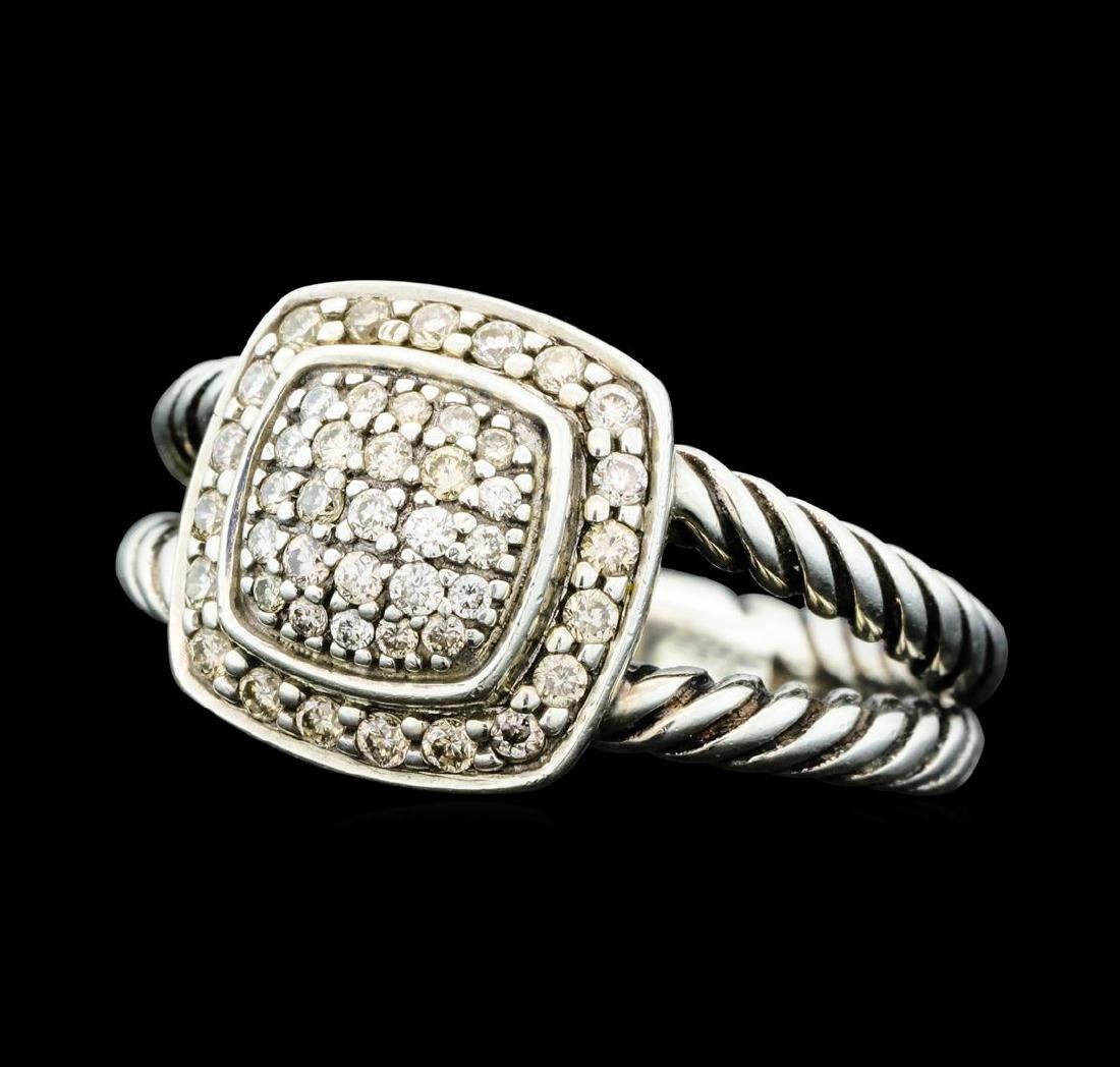 0.29 ctw David Yurman Petite Albion Diamond Ring -