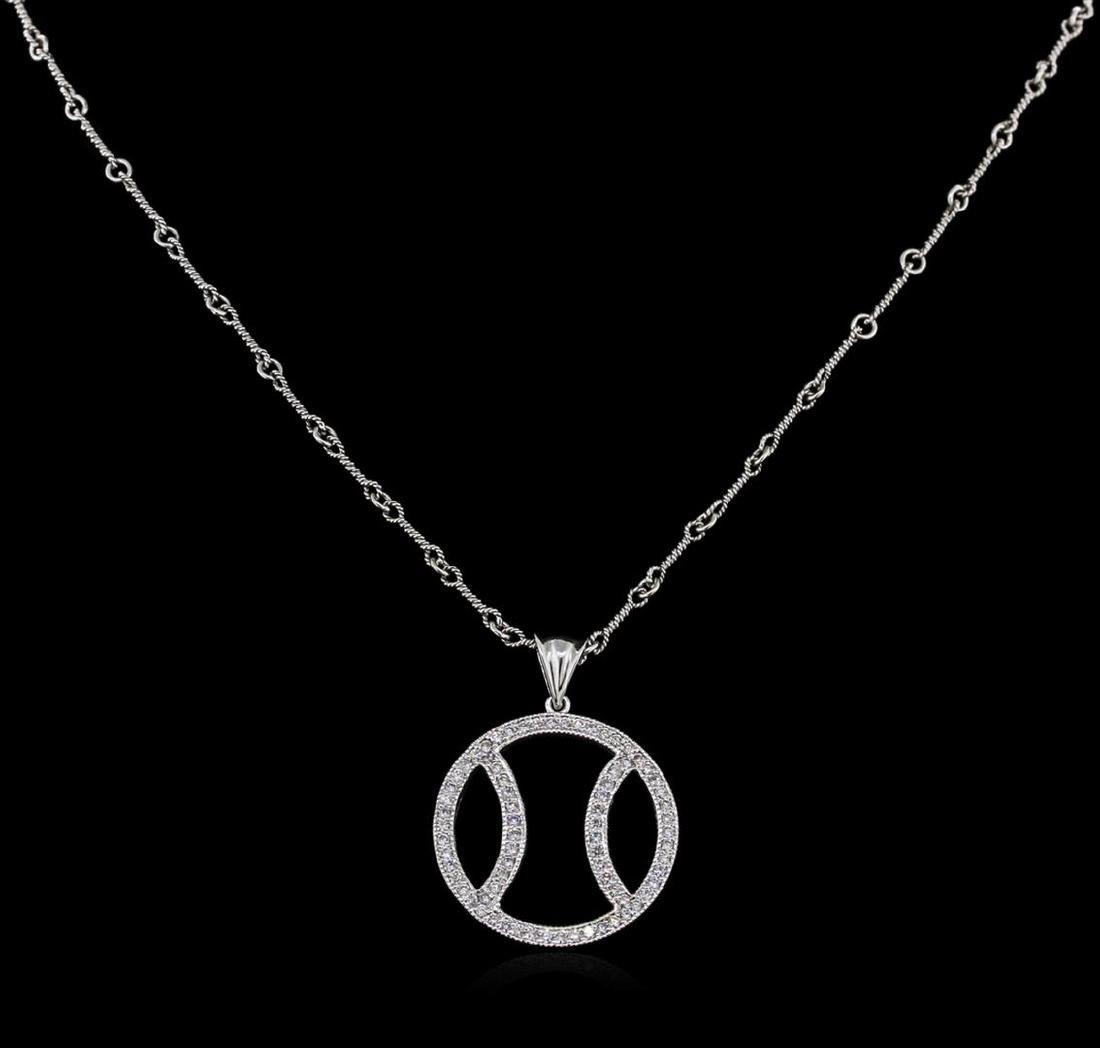 1.00 ctw Basketball Diamond Pendant With Chain - 14KT