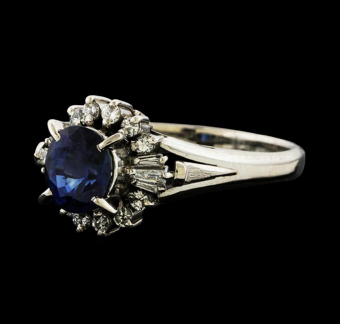 1.34 ctw Sapphire and Diamond Ring - Platinum