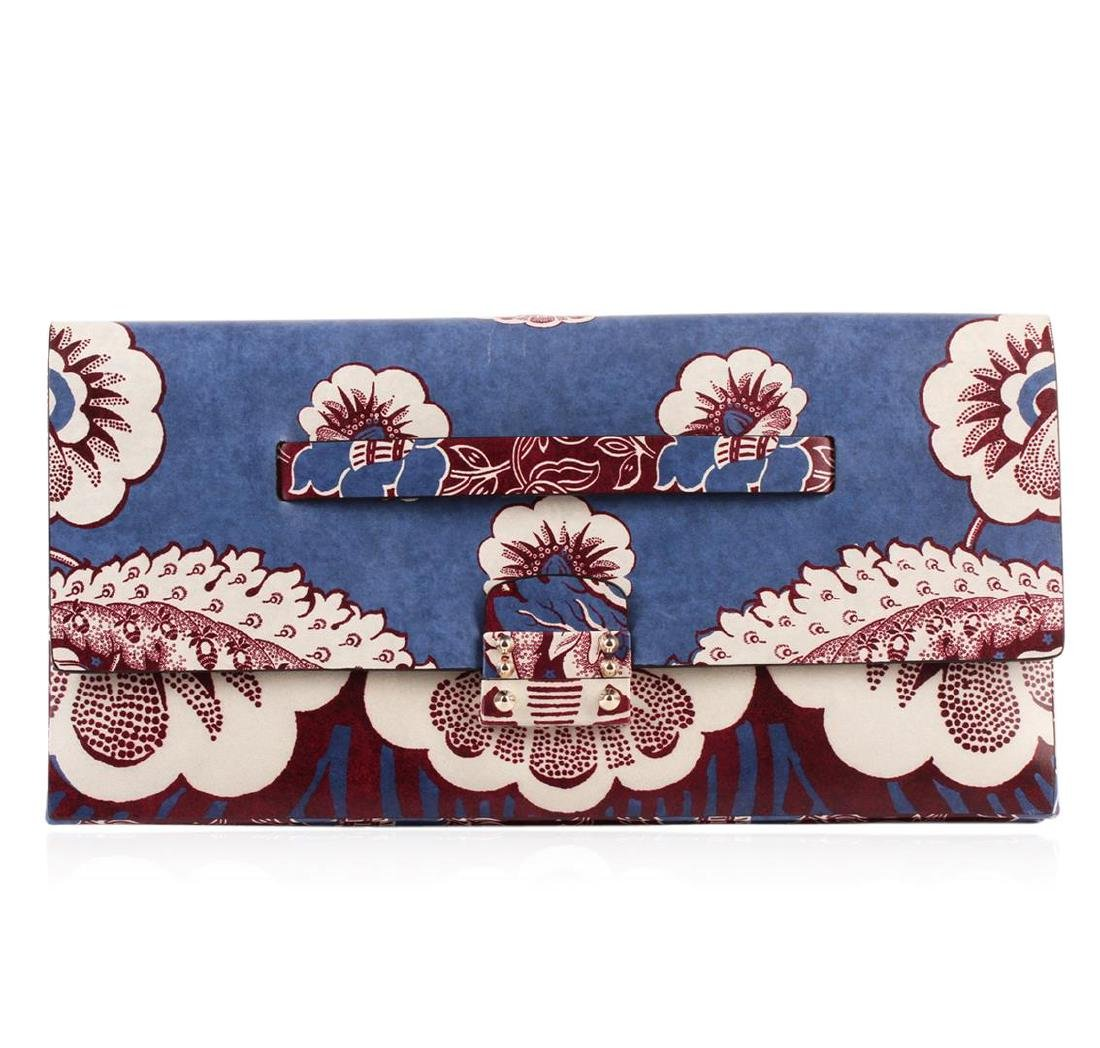 Valentino 2015 Floral Clutch