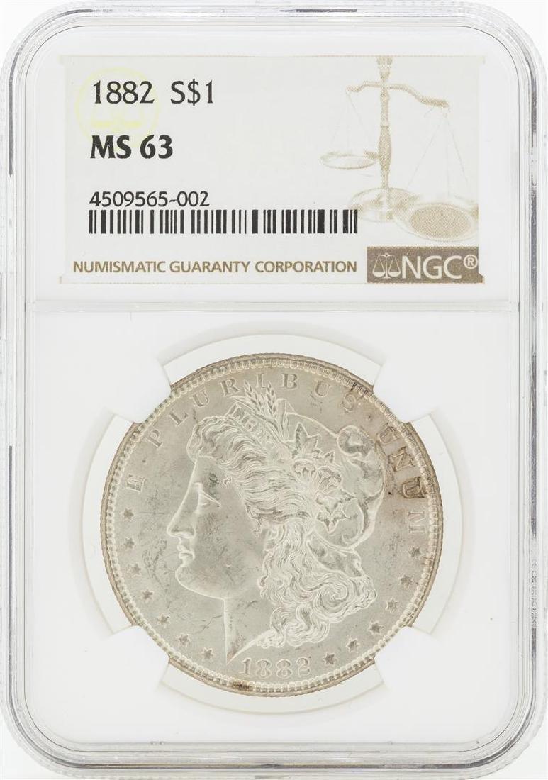 1882 MS63 NGC Morgan Silver Dollar