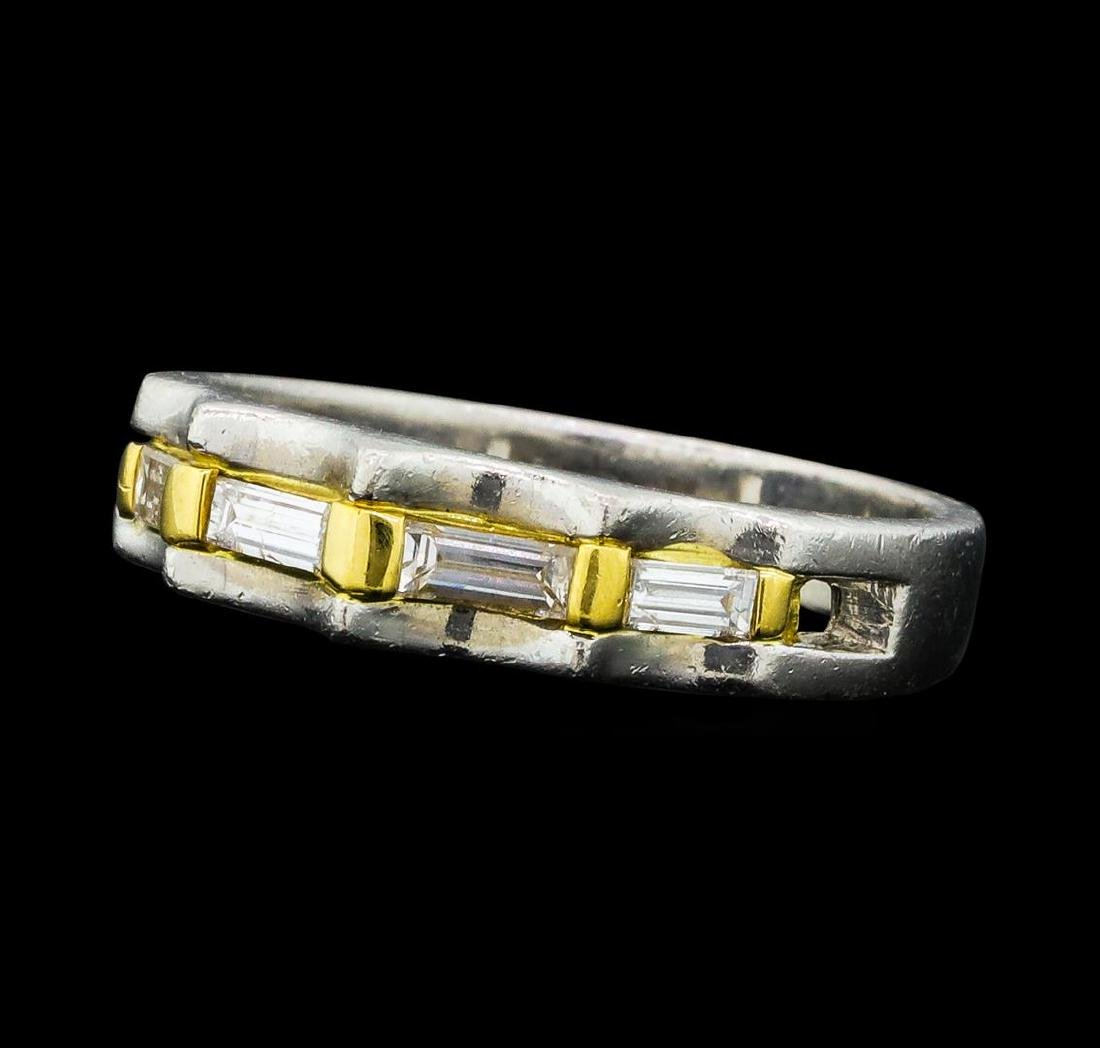 0.20 ctw Diamond Ring - Platinum and 18KT Yellow Gold