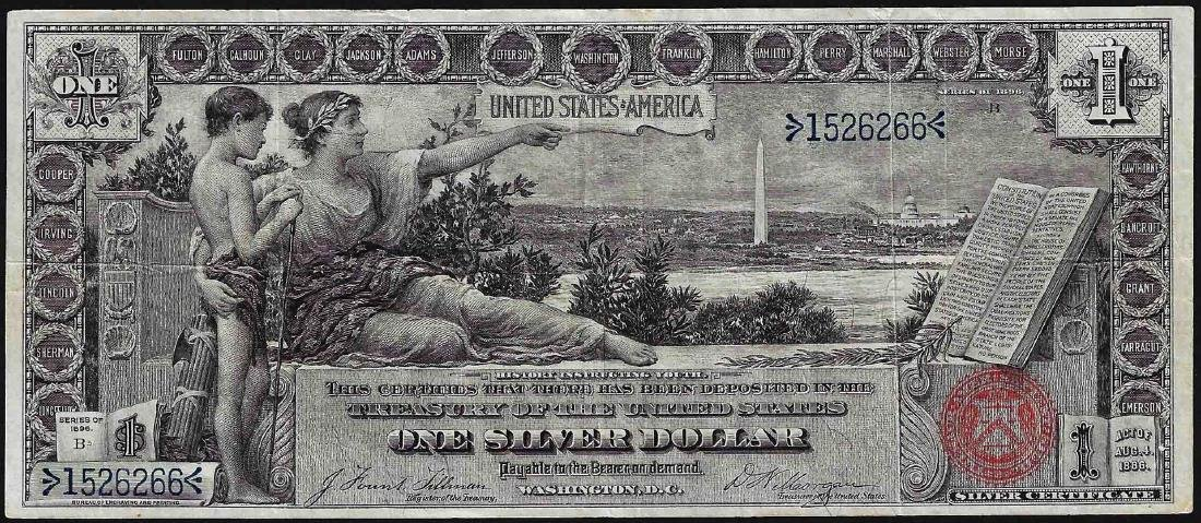 1896 $1 Educational Silver Certificate Note