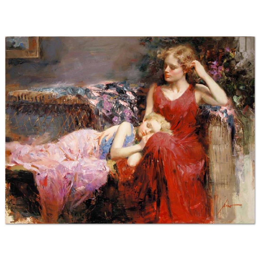 A Mother's Love by Pino (1939-2010)