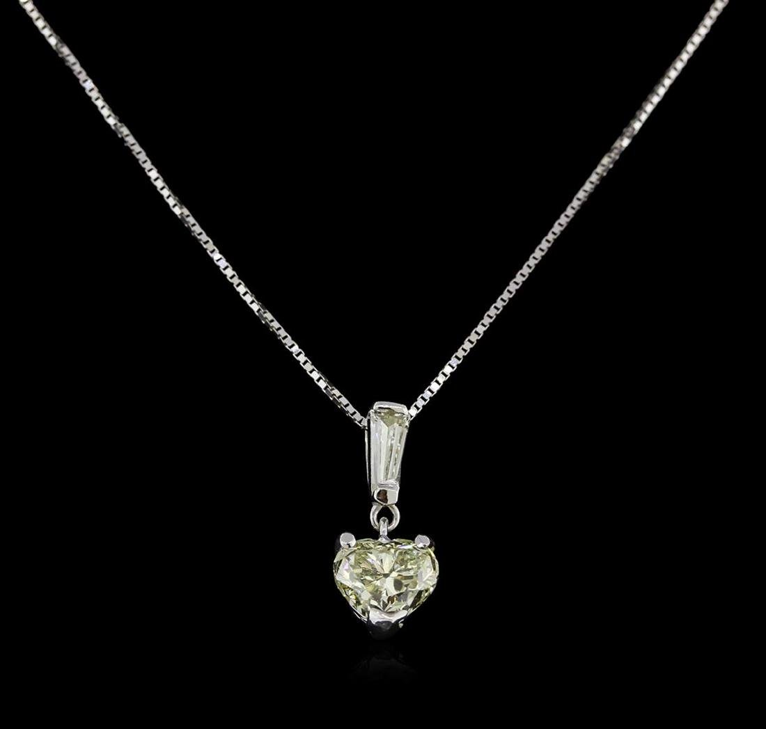 GIA Cert 1.17 ctw Diamond Pendant With Chain - 14KT