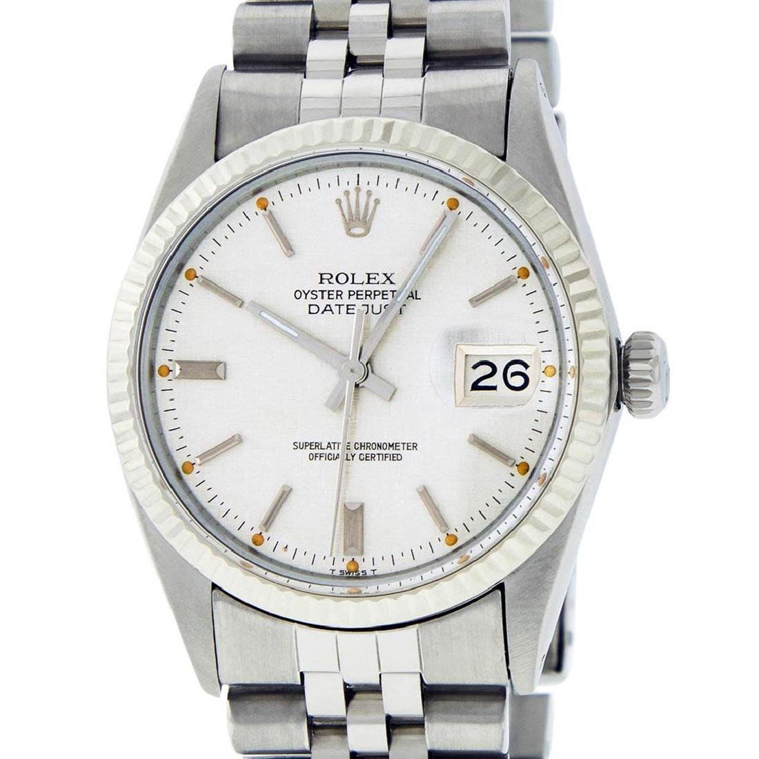 Rolex Mens Stainless Steel Silver Index Datejust