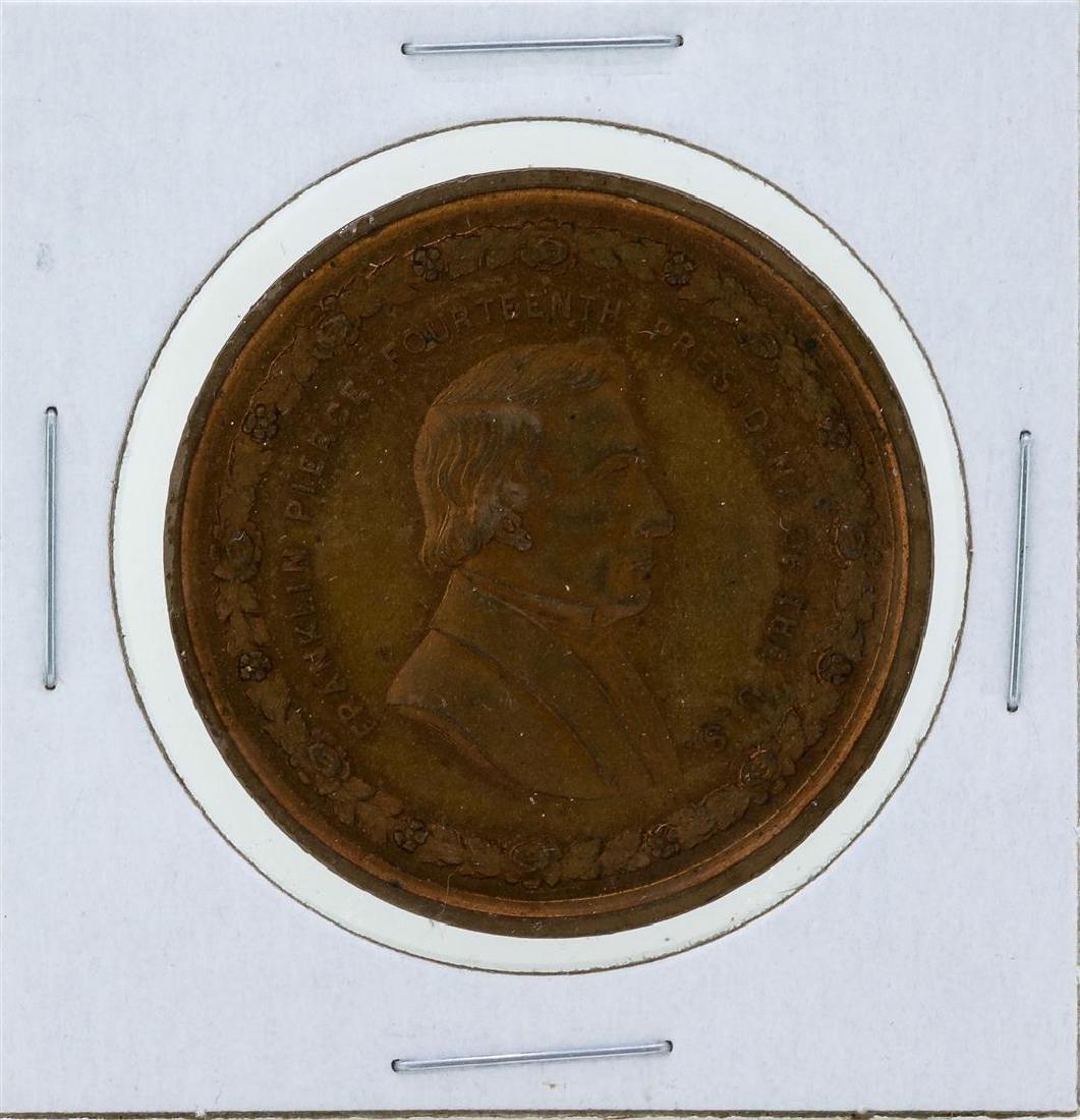 Circa 1880 Franklin Pierce George H Lovett Medal Red