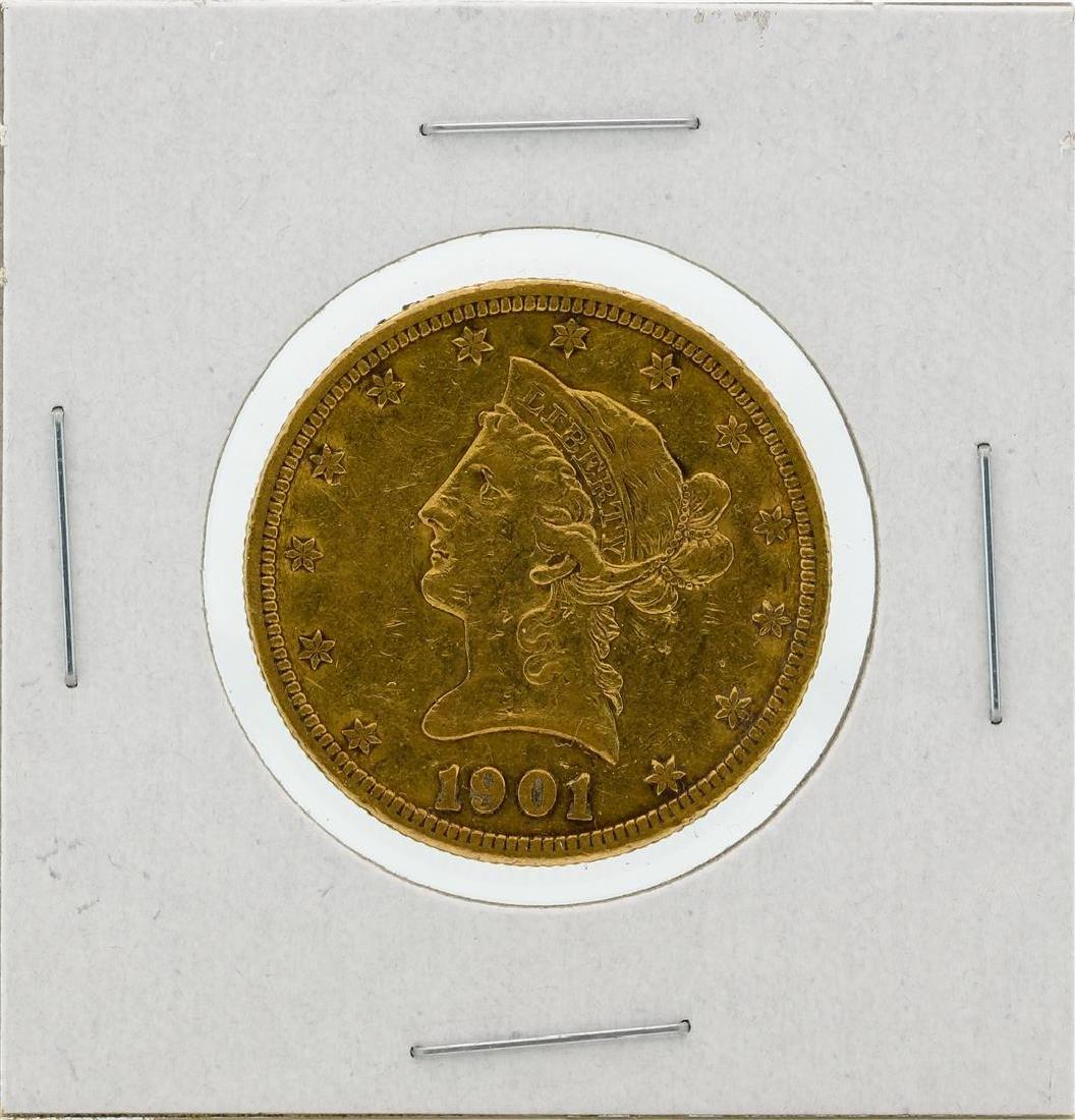 1901-S $10 VF Liberty Head Eagle Gold Coin