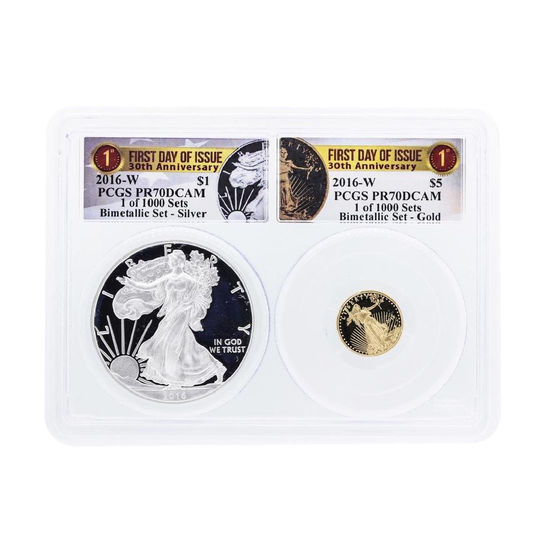 2016-W American Silver & Gold Eagle 30th Anniversary
