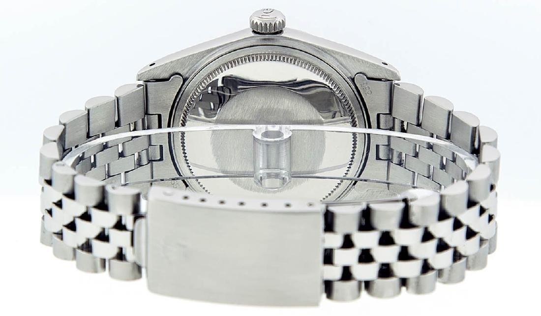 Rolex Mens Stainless Steel Black Index DateJust Men's