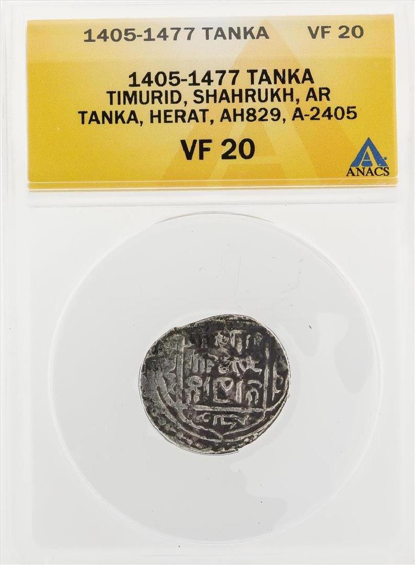 1405-1477 Tanka Timurid Shahrukh AR Tanka Herat AH829