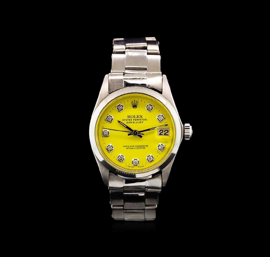 Rolex Stainless Steel Vintage Mid-Size DateJust Watch