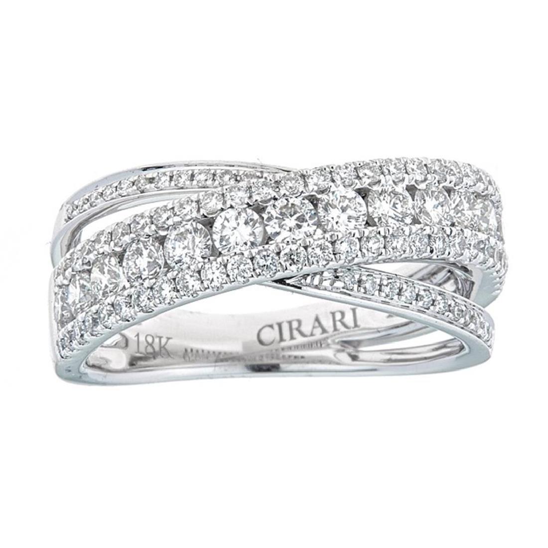 1.17 ctw Diamond Ring - 18KT White Gold