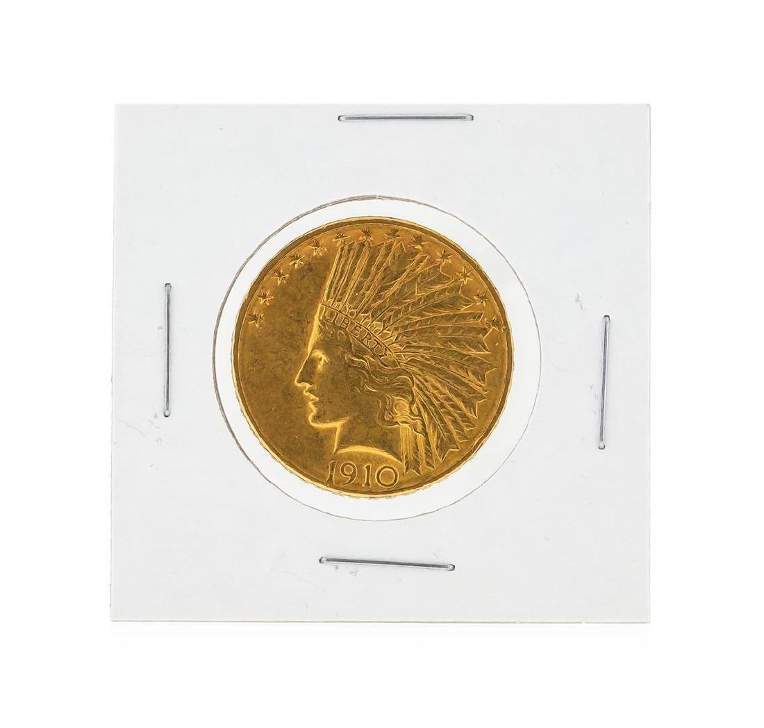 1910-D $10 AU Indian Head Eagle Gold Coin