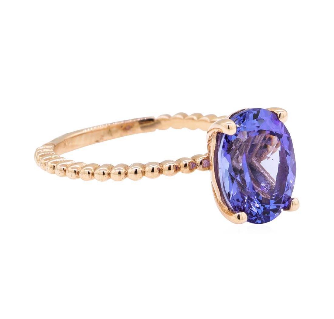 2.93 ctw Tanzanite Ring - 14KT Rose Gold