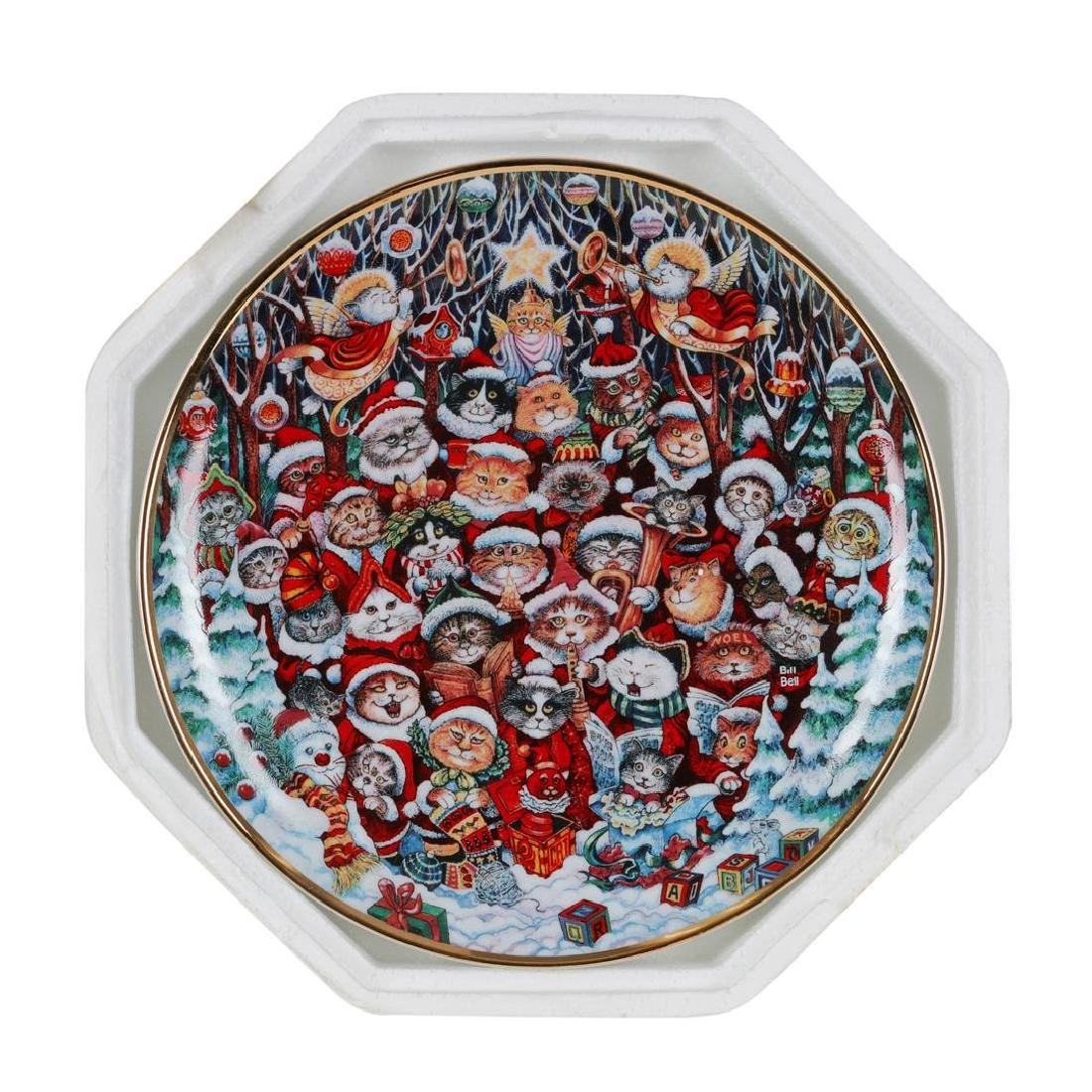 "Bill Bell ""Santa Claws"" Collector Plate from the"