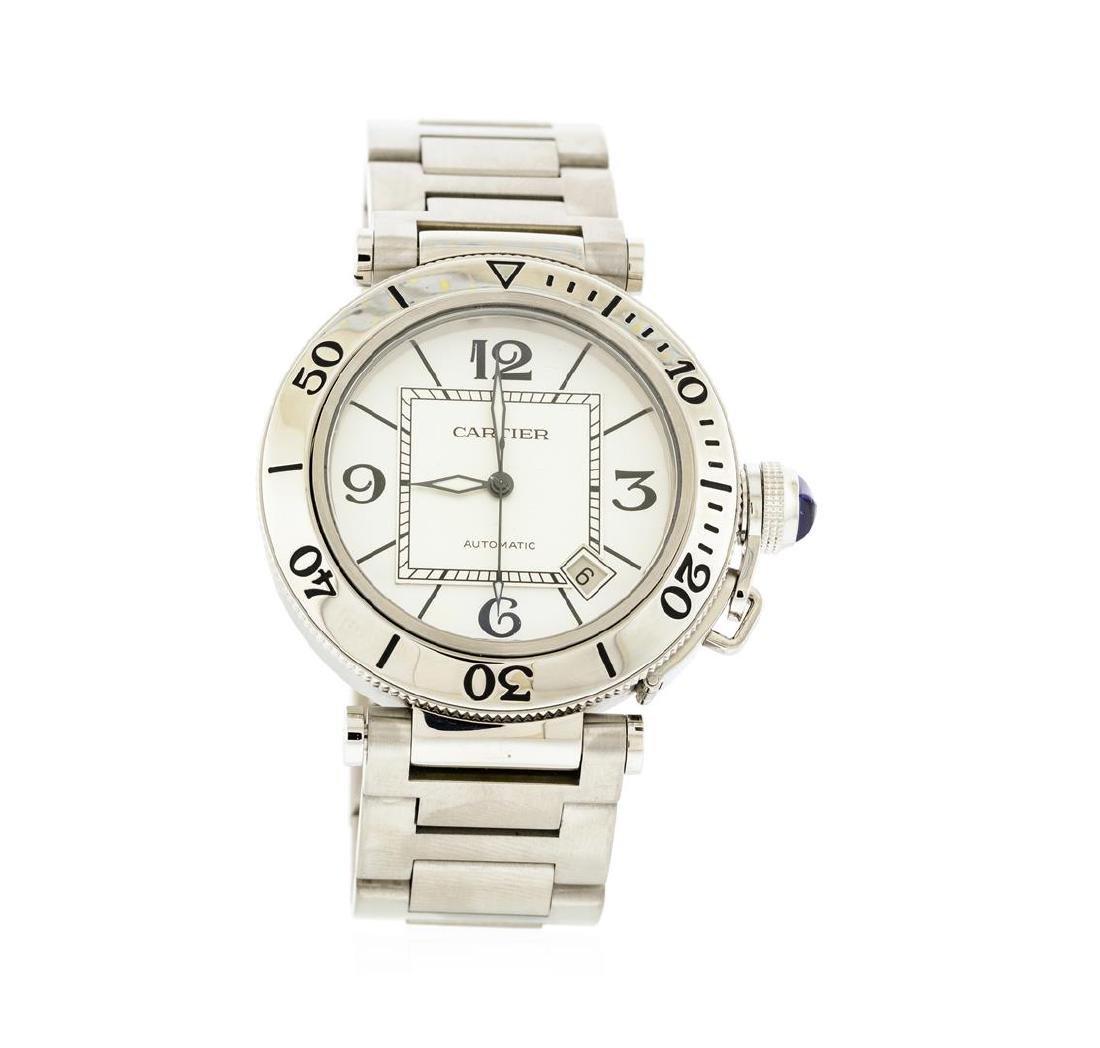 Cartier Stainless Steel Pasha Seatimer Watch