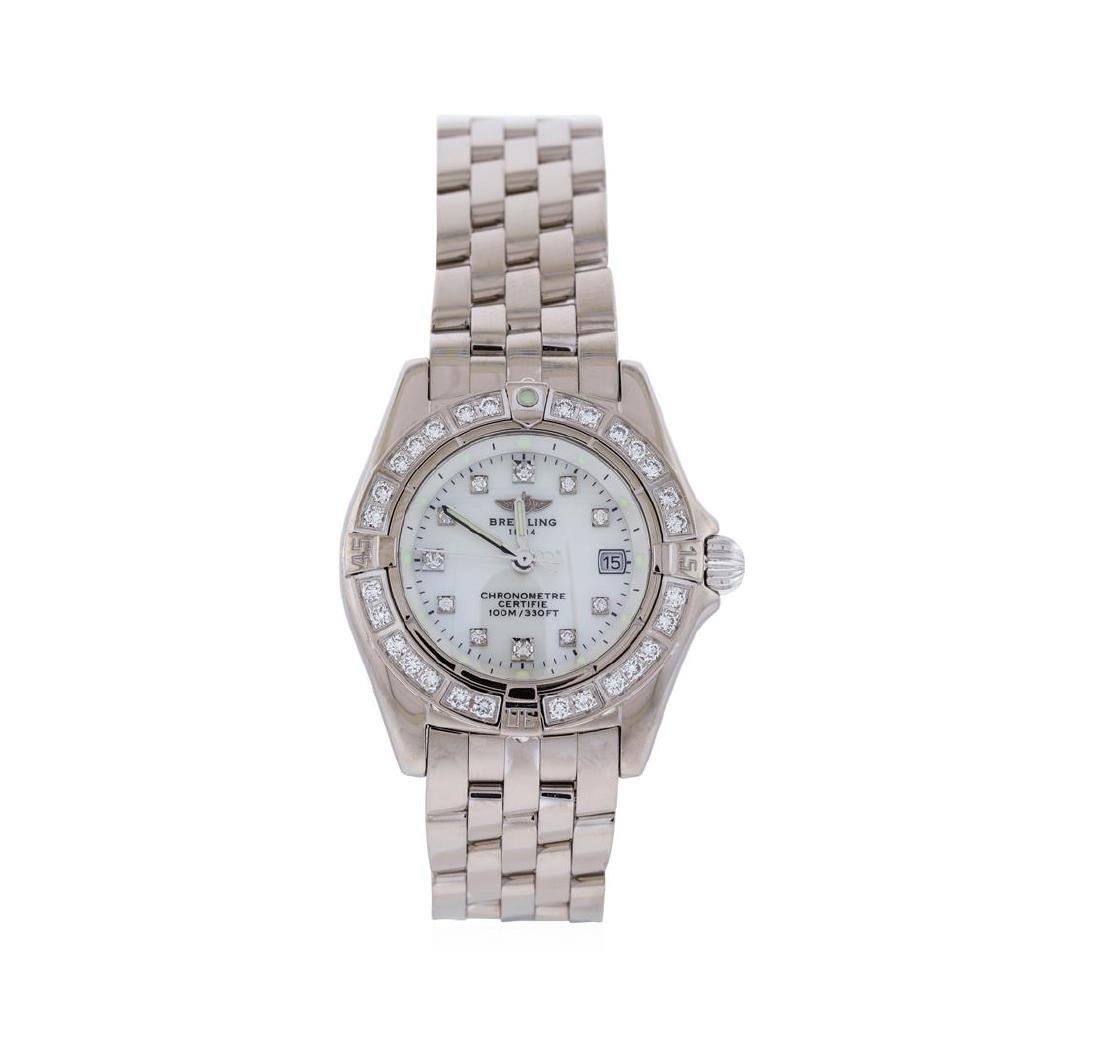 Breitling 18KT White Gold Diamond Callistino Watch