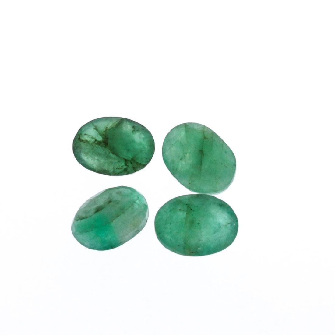 4.47 cts. Oval Cut Natural Emerald Parcel