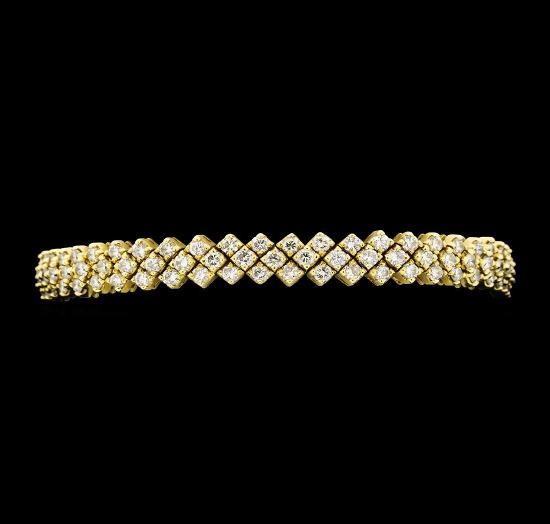 10.00 ctw Diamond Bracelet - 18KT Yellow Gold