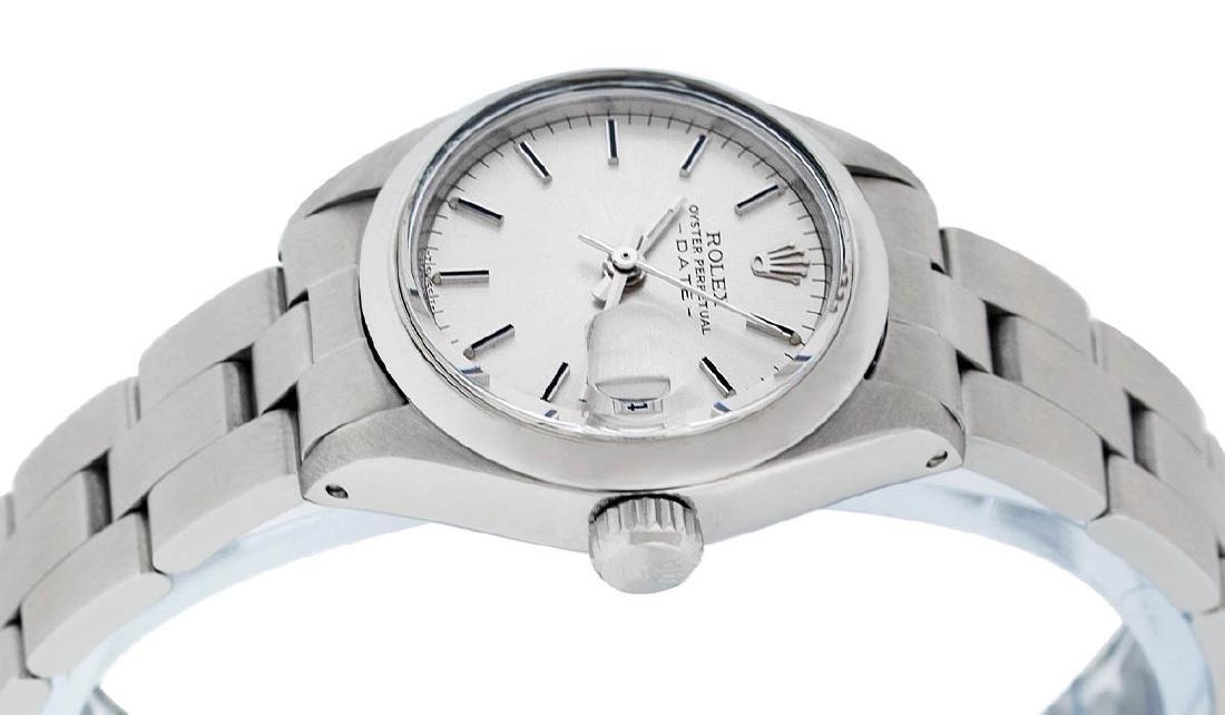 Rolex Ladies Stainless Steel Silver Index Smooth Bezel - 2