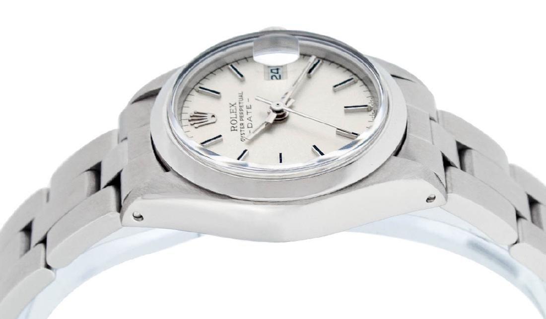 Rolex Ladies Stainless Steel Silver Index Smooth Bezel - 3