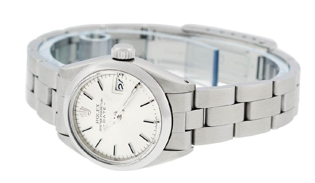Rolex Ladies Stainless Steel Silver Index Smooth Bezel - 4