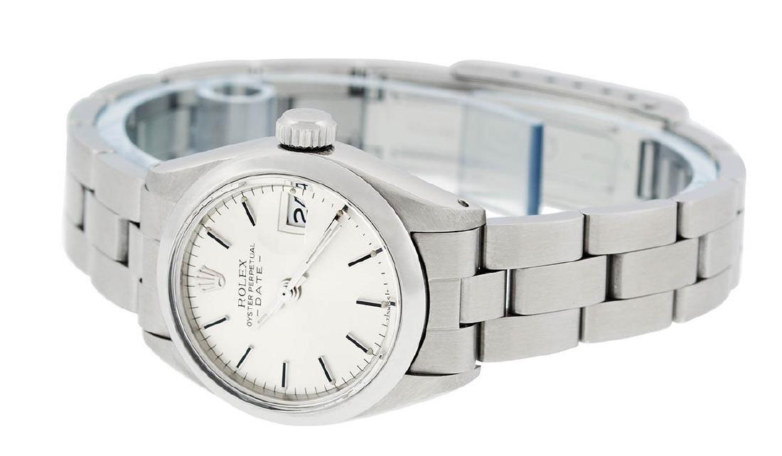 Rolex Ladies Stainless Steel Silver Index Smooth Bezel - 4