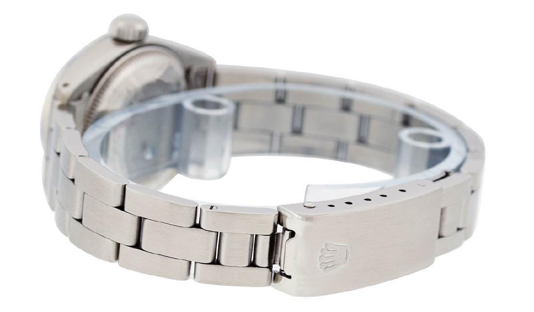 Rolex Ladies Stainless Steel Silver Index Smooth Bezel - 5