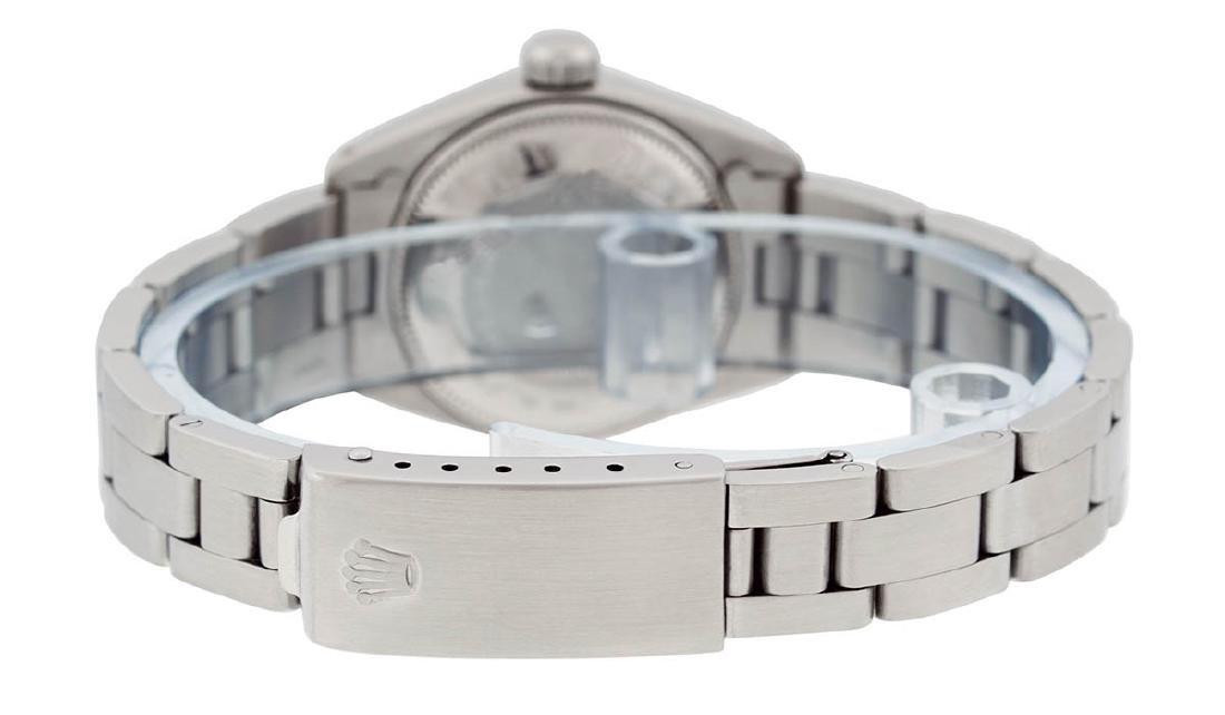 Rolex Ladies Stainless Steel Silver Index Smooth Bezel - 6