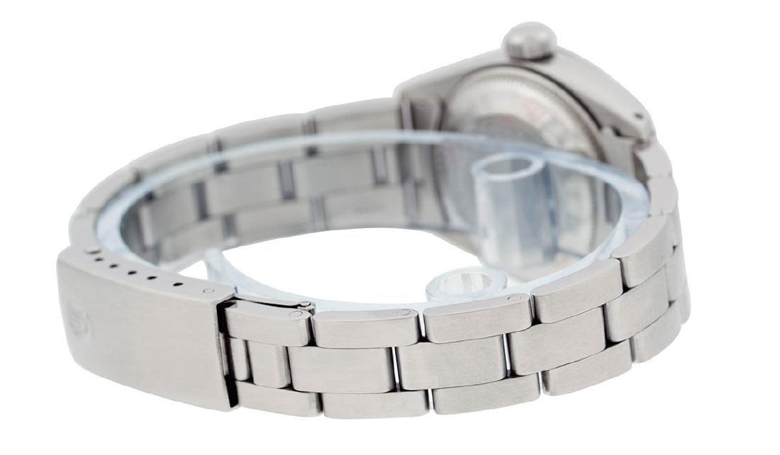 Rolex Ladies Stainless Steel Silver Index Smooth Bezel - 7