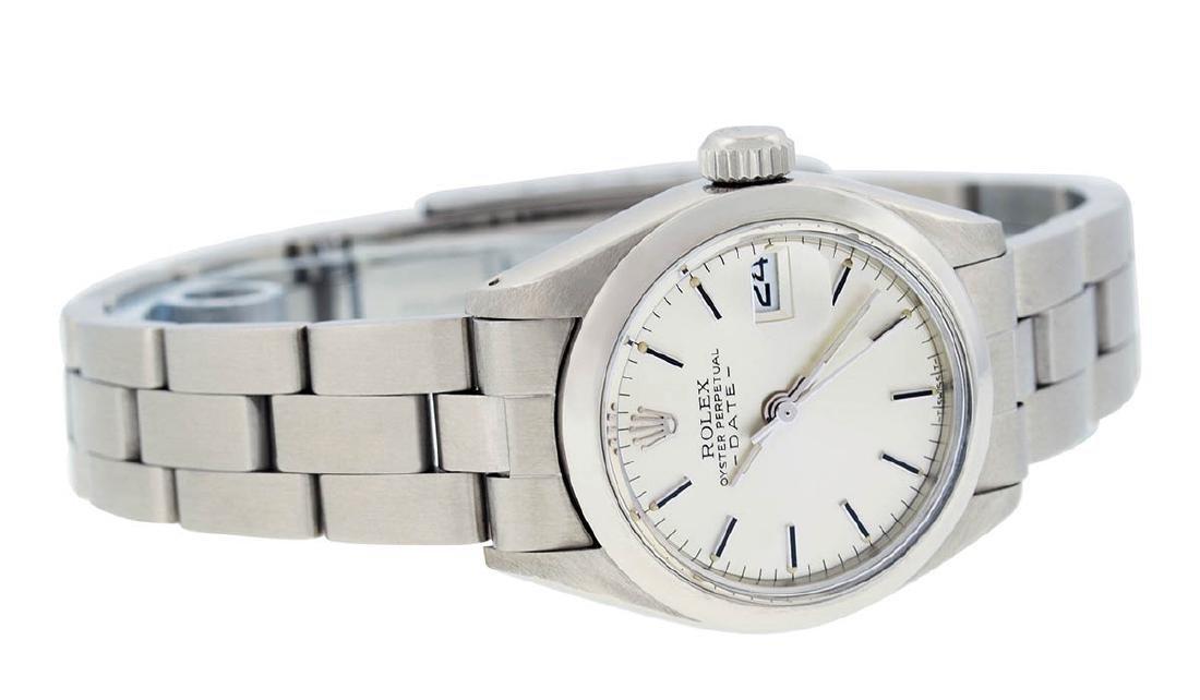 Rolex Ladies Stainless Steel Silver Index Smooth Bezel - 8