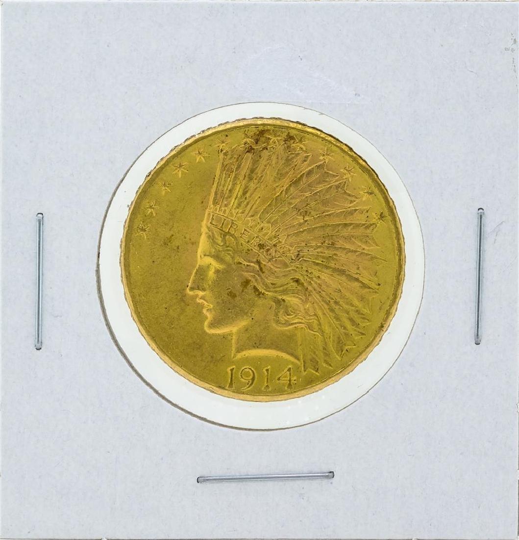 1914-D $10 Indian Head Gold Coin CU